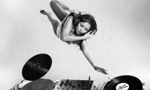 Flying DJ Girl